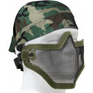 Olive Drab Military Bravo Tactical Gear Steel Half Face Mask Strike Force