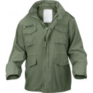 Olive Drab Vintage Military M-65 Field Jacket
