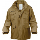 Russet Brown Vintage Military M-65 Field Jacket