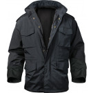 Black Military Nylon Tactical M-65 Storm Field Jacket