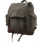 Olive Drab Vintage Military Expedition Rucksack Backpack Bag