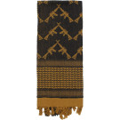 Coyote Brown Shemagh Arab Tactical Desert Keffiyeh Scarf w/ Crossed Rifles