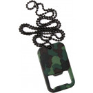 Woodland Camouflage Dog Tag Bottle Opener Necklace