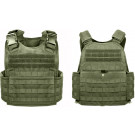 Olive Drab Military MOLLE Tactical Plate Carrier Assault Vest