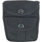 Black Canvas 2-Pocket Military Ammo Pouch
