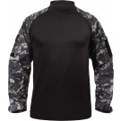 Subdued Urban Digital Camouflage & Black Military Heat Resistant Tactical Lightweight Combat Shirt