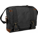 Black Vintage Military B-15 Pilot Tactical Messenger Shoulder Bag