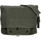 Olive Drab Vintage Military Paratrooper Messenger Shoulder Bag