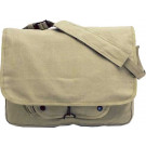 Khaki Vintage Military Canvas Tactical Paratrooper Bag