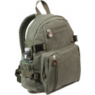Olive Drab Vintage Military Canvas Mini Backpack