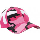 Pink Camouflage Supreme Military Low Profile Adjustable Baseball Cap