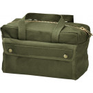 Olive Drab Military Mechanics Tool Bag w/ Brass Zipper
