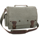 Olive Drab Tactical Military Trailblazer Laptop Bag With Leather Accents