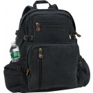 Black Vintage Military Canvas Jumbo Backpack