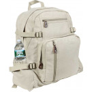 Khaki Vintage Military Canvas Jumbo Backpack