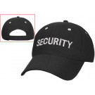 Black Law Enforcement Security Low Profile Adjustable Mesh Cap