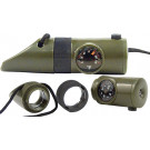 Olive Drab Super Tactical Survival Whistle Kit w/ LED Light