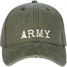 Olive Drab Vintage Military Army Low Profile Adjustable Cap