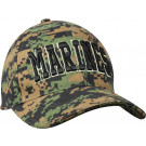 Woodland Digital Camouflage Deluxe Marines Low Profile Adjustable Cap