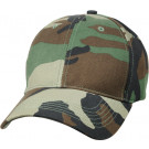 Woodland Camouflage Kids Low Profile Baseball Cap