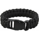 Black Deluxe Survival Paracord Cobra Bracelet w/ Buckle