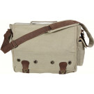 Khaki Tactical Military Trailblazer Laptop Bag With Leather Accents