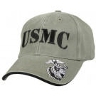 Black Vintage Military US Marine Corp Deluxe Low Profile Adjustable Cap