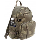Woodland Camouflage Vintage Military Canvas Mini Backpack
