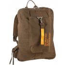 Earth Brown Canvas Deployment Flight Backpack