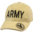 Khaki Vintage Military Army Deluxe Low Profile Adjustable Cap
