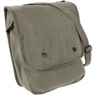 Olive Drab Vintage Military Heavyweight Canvas Map Case Shoulder Bag