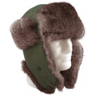 Olive Drab Bomber Aviator Fur Flyer's Trapper Hat