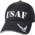 Navy Blue Vintage Military USAF Low Profile Adjustable Cap