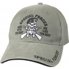 Olive Drab Vintage Military Special Forces Low Profile Adjustable Cap