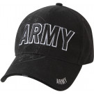 Black Military Army Deluxe Low Profile Shadow Adjustable Cap