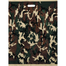 Woodland Camouflage Large Deluxe Shopping Bags (50 Pieces)