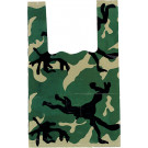 Woodland Camouflage Small Size Shopping Bags (100 Pieces)