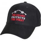 "Black ""The Second Protects The First"" Adjustable Cap Baseball Hat"