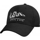 Black Deluxe Join Or Die Low Profile Hat Adjustable Baseball Cap