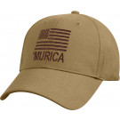 Coyote Brown Deluxe 'Murica Subdued US Flag Low Profile Baseball Cap