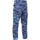 Sky Blue Digital Camouflage Military Cargo BDU Fatigue Pants