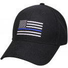 Black Thin Blue Line American Flag Support The Police Low Profile Cap