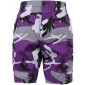 Ultra Violet Purple Camouflage Cargo Military BDU Shorts