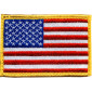 Red White Blue/Gold Border Embroidered US Flag Patch