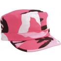 Women's Pink Camouflage Military Adjustable Patrol Fatigue Cap