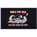 Black Skull and Wing Kill 'Em All Flag (3' x 5')