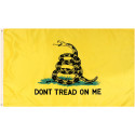 Yellow Don't Tread On Me Gadsen Snake Flag 3' x 5'