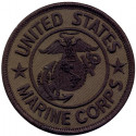 Subdued USMC Round Patch (3 Inches)