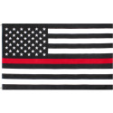 Thin Red Line Subdued Support Firefighters US American Flag 3' x 5'
