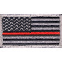 Thin Red Line US Flag Hook & Loop Patch